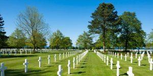 American War Cemetery in Normandy