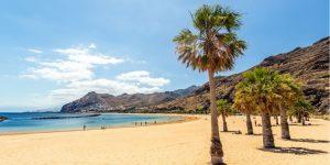 sandy beach in tenerife