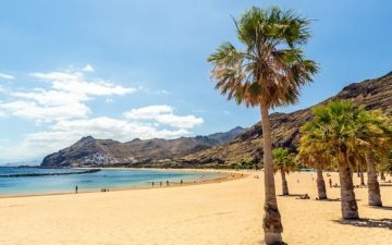 sandy beach in tenerife